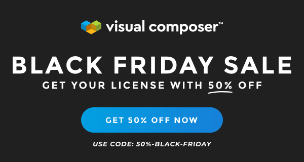 Visual Composer Cyber Monday